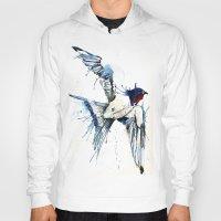 swallow Hoodies featuring My Swallow by Meg Ashford