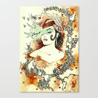 "courage Canvas Prints featuring ""Courage"" by Cat De Pillar"