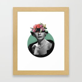 Jean simmons Floral Framed Art Print