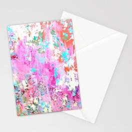 Pink Abstract with Coral Stationery Cards