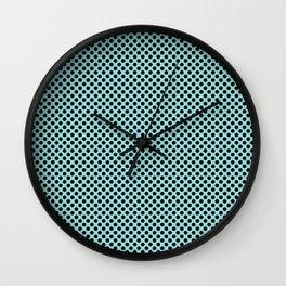 Limpet Shell and Black Polka Dots Wall Clock