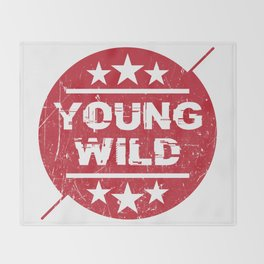 Young wild Throw Blanket