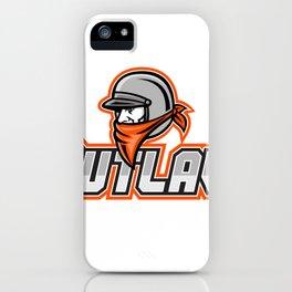 Outlaw Biker Mascot iPhone Case