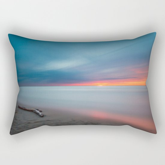 Sunset pastel #ocean Rectangular Pillow