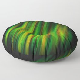 Colorful neon green brush strokes on dark gray Floor Pillow