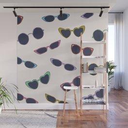 Retro sunglasses print Wall Mural