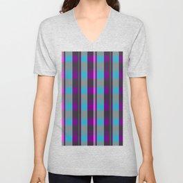 Colored Squares and Checks Unisex V-Neck