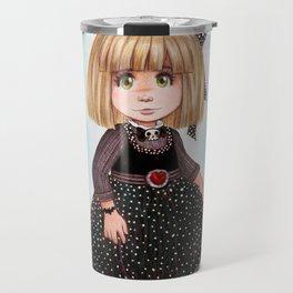 Dark girl - gothic cartoons Travel Mug