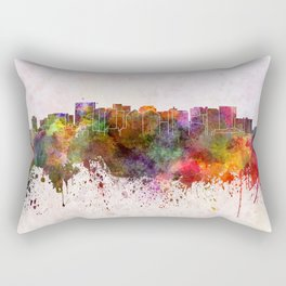 Oakland skyline in watercolor background Rectangular Pillow