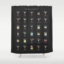 The Gin Cocktail Shower Curtain
