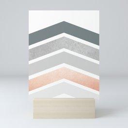 Scandinavian Design Blush Grey Chevron Mini Art Print