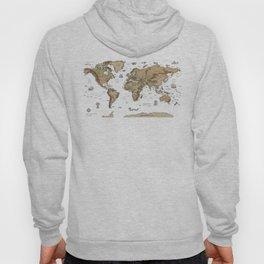 World Treasure Map Hoody
