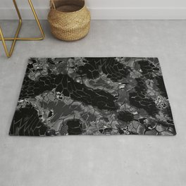 black dragon scales camouflage Rug
