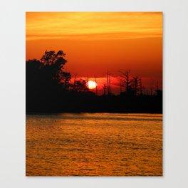 Cape Fear River Sunset Canvas Print