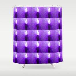 Monochromatic Purple pattern Shower Curtain