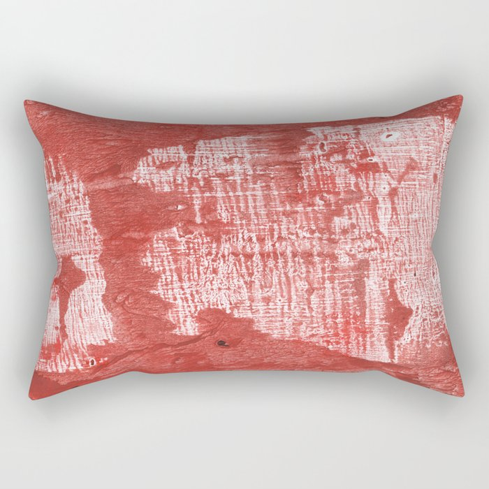 Indian red blurred wash drawing design Rectangular Pillow