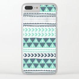 Winter Stripe Clear iPhone Case