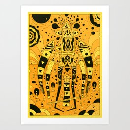 wanderer (orange planet) Art Print