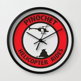 Pinochet Helicopter Rides Wall Clock