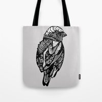 sparrow Tote Bags featuring Sparrow by amyrose