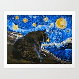 Bear Van Gogh (Painting Retouch) Art Print