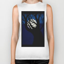 Moon Visits Tree Biker Tank
