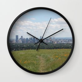 View of Calgary from Nosehill Wall Clock