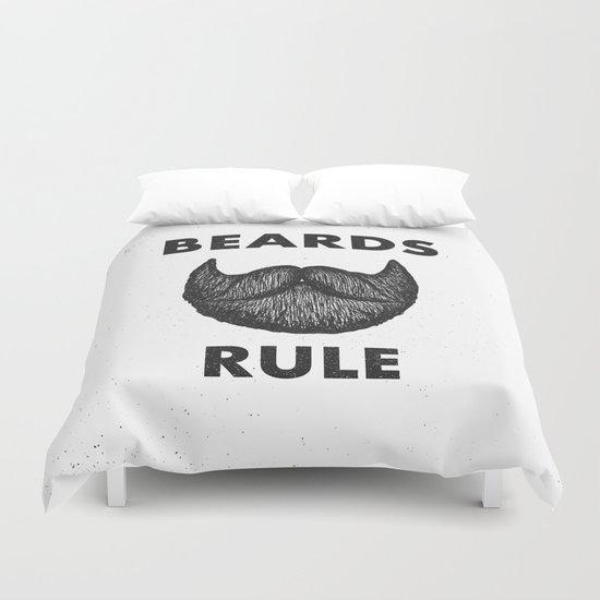 Beards Rule Duvet Cover