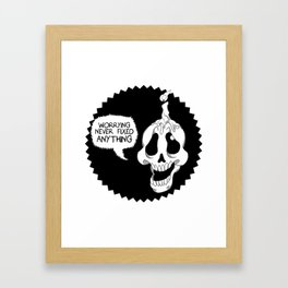 Skull Candle Framed Art Print