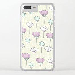 flowers pattern zz Clear iPhone Case