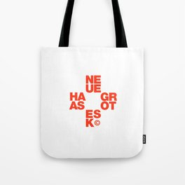 Helvetica Typoster #7 Tote Bag