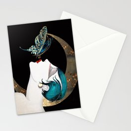 Butterfly Kiss Art Deco Remix Stationery Cards