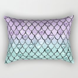 Mermaid Princess Glitter Scales #2 #shiny #pastel #decor #art #society6 Rectangular Pillow