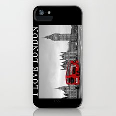 Black and White London with Red Bus Slim Case iPhone (5, 5s)