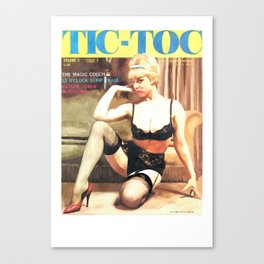 Tic-Toc - Vintage Magazine Covers Series Canvas Print