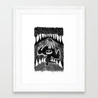 rooster teeth Framed Art Prints featuring Teeth by Khodr Saad