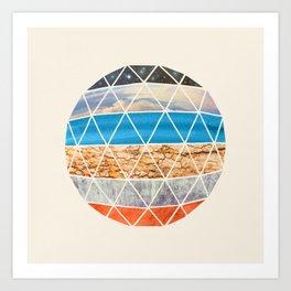 Geodesic III Art Print