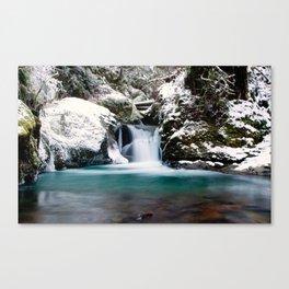 Emerald Pool in Winter Canvas Print