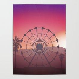 Festival Inspired Sunset Poster