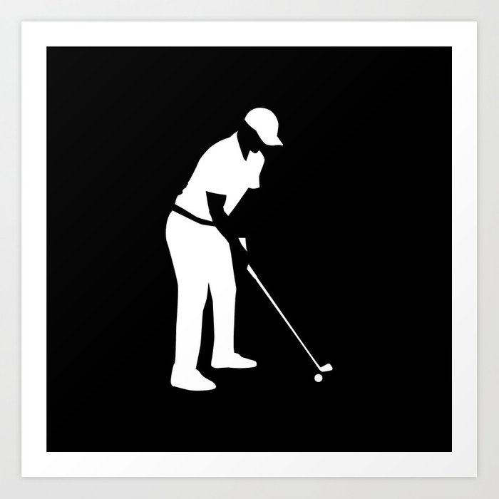 Golf player Art Print