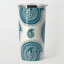 Hand drawn lily of the valley floral paisley damask Travel Mug