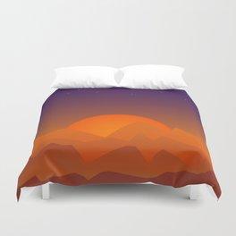 Slumbering Hills, Southwestern Landscape Art Duvet Cover