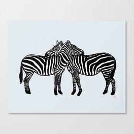 Zebras in Love Canvas Print