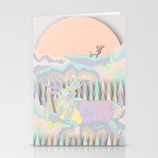 Deer Forest Stationery Cards