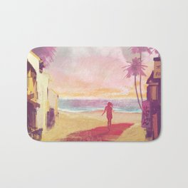 Osaka beach Bath Mat