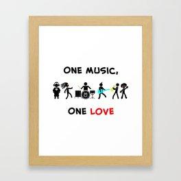 One Music, One Love Framed Art Print