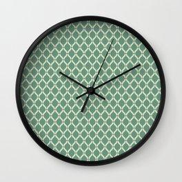 Green Geometric Pattern Wall Clock