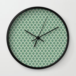 Green Geometric Pattern Wall Clock