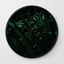 Grass blades basking in the sun - Abstract Wall Clock