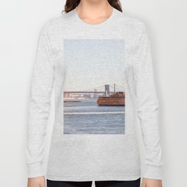 Staten Island Ferry to Manhattan Long Sleeve T-shirt